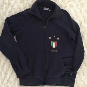 Vintage puma Italia zip up sweatshirt